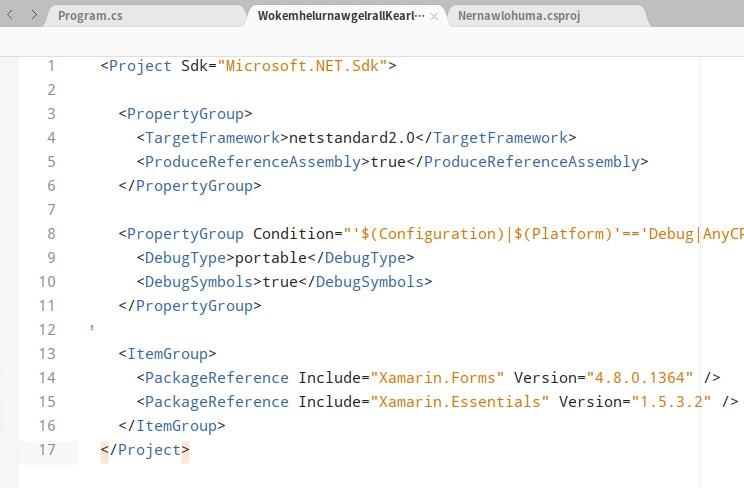 dotnet 在 UOS 国产系统上使用 Xamarin Forms 创建 xaml 界面的 GTK 应用